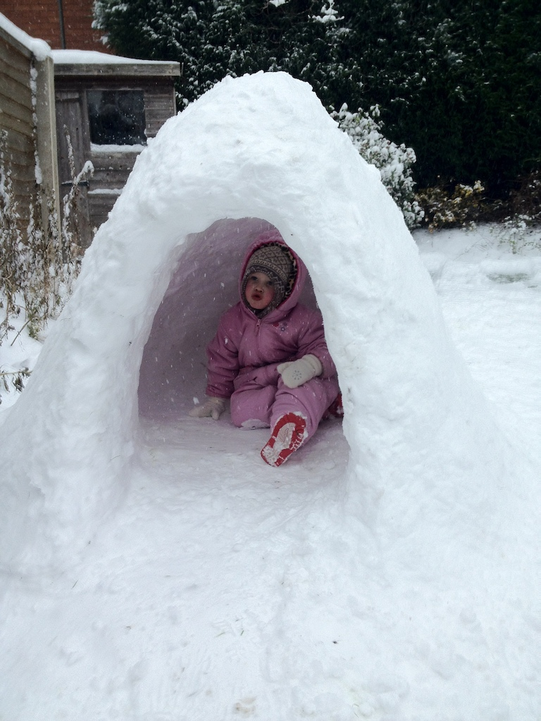Thinks she's an Eskimo