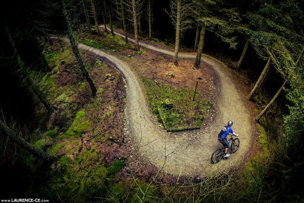 With the snow gone, its back out on the bike. Pete Calking getting it done at Llandegla and warming up for summer - Laurence CE - www.laurence-ce.com