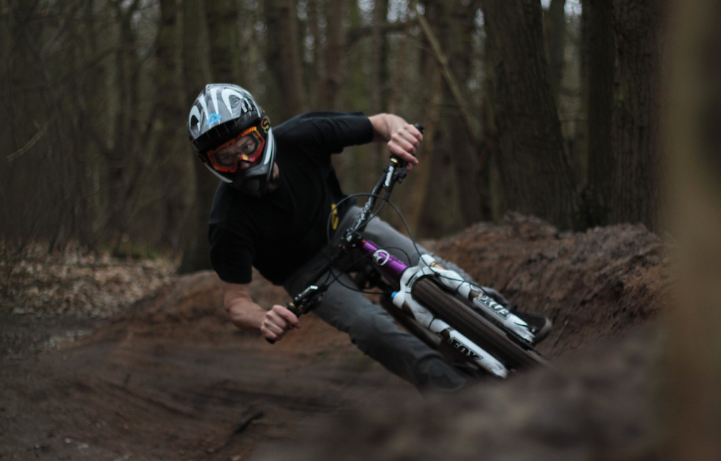 Russ Shredding Berms on his Purple Princess ...
