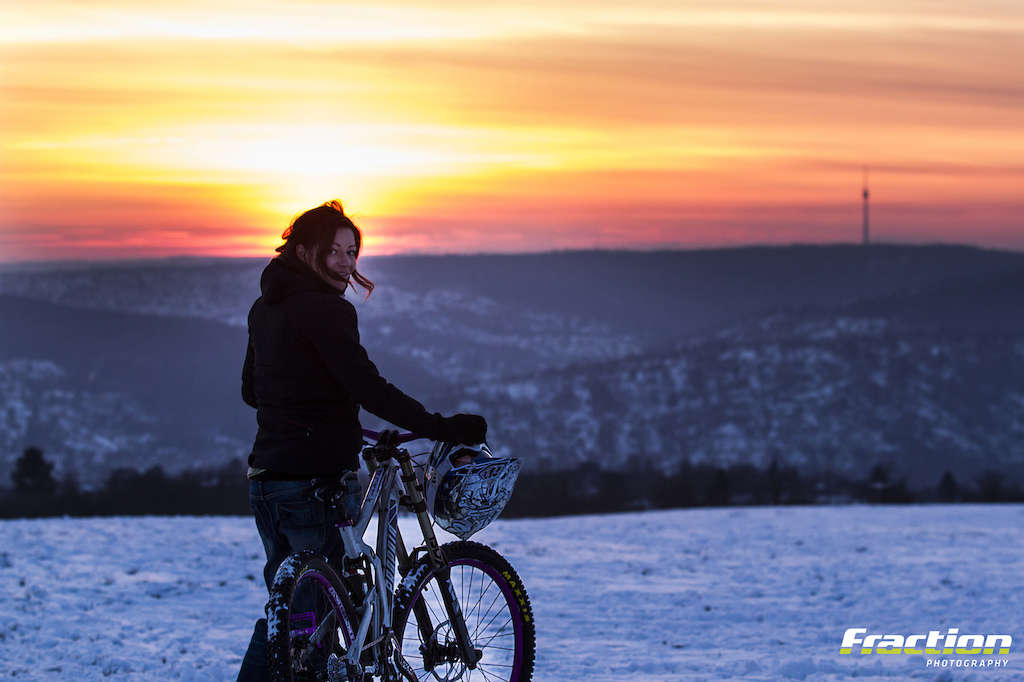 Sunset over Stuttgart - by Hanno Polomsky www.fraction-magazine.de // I know there's not much riding or action in this picture... but it makes me want to grab my bike immediately, and I know I don't have to go far to get a decent after-work ride. Thanks to hanno for capturing this great moment!