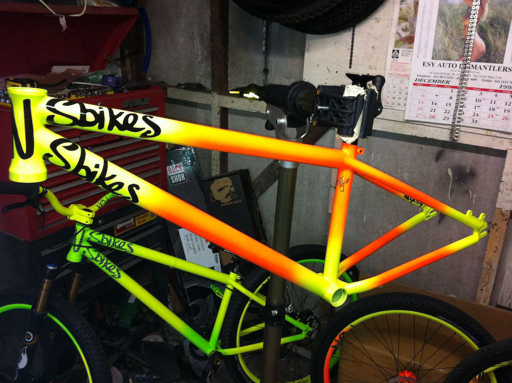 This bike was build to showcase what could be done every decal was custom airbrushed