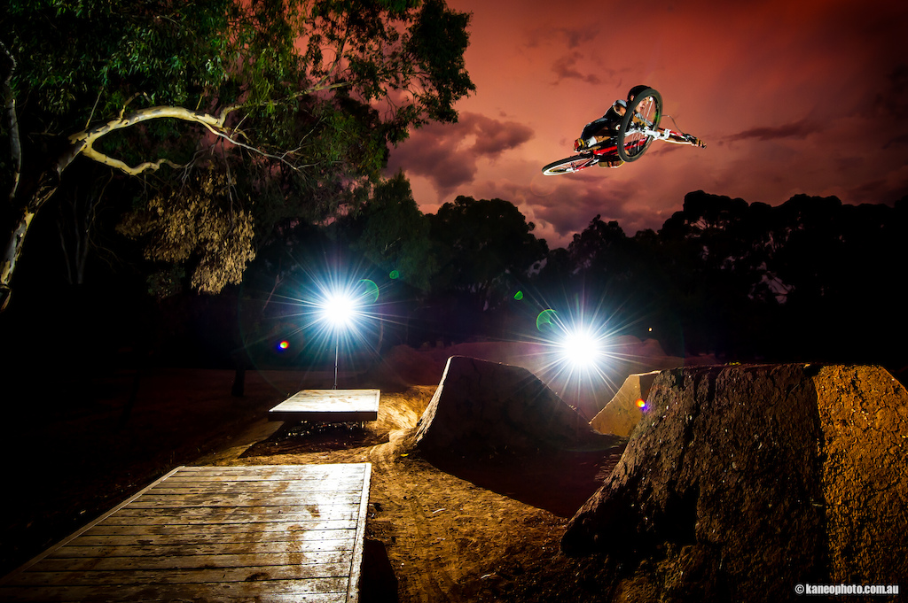 Shot while doing a shoot with Ryan Lloyd for his sponsors. Nathan provided me with a near perfect light setup shot with this Taybo. Yes the lights were meant to be in the shot. Just trying something different from the normal. The sky was almost that colour with a crazy lightning storm brewing in the background at sunset. Just a slight wb adjustment.