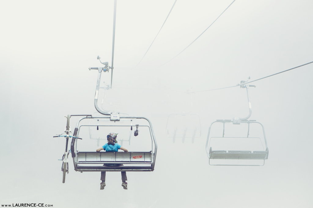 Can get a little foggy on the chairlifts in Whistler Bike Park. Pick your days wisely - Laurence CE - www.laurence-ce.com