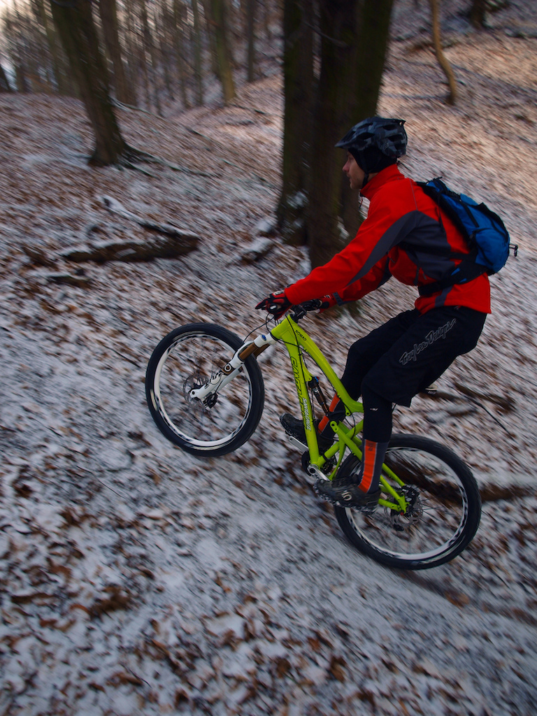 Winter ride on new trail