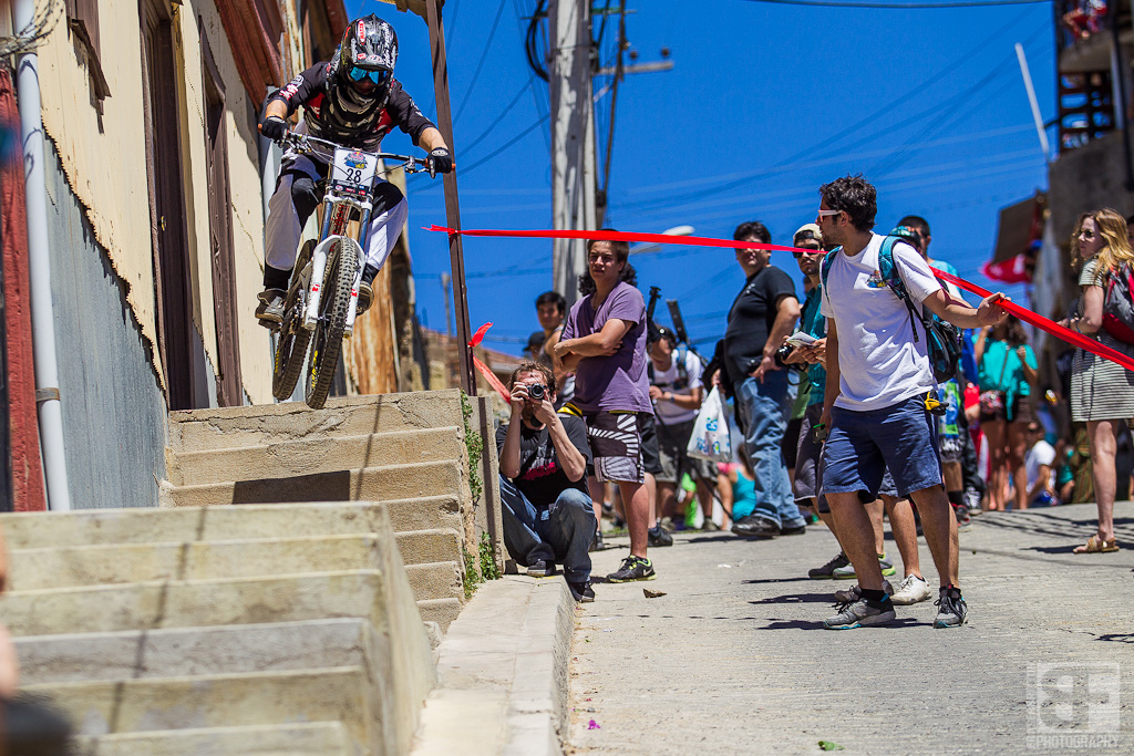 Tricky gaps are everywhere here in Valpo. This one almost claimed a few riders as they had to air off the top set and hopefully clear the curb while turning left int he air.