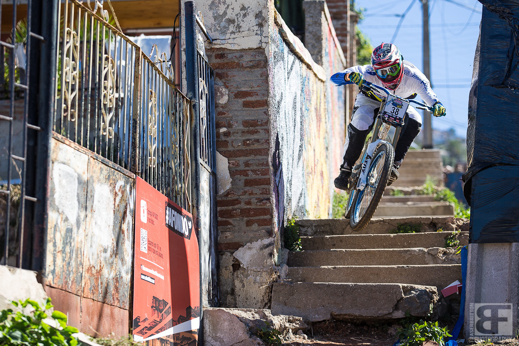 Another sketchy stair exit. Go wide right and hug the wall and then turn a hard left out onto the street and over the curb