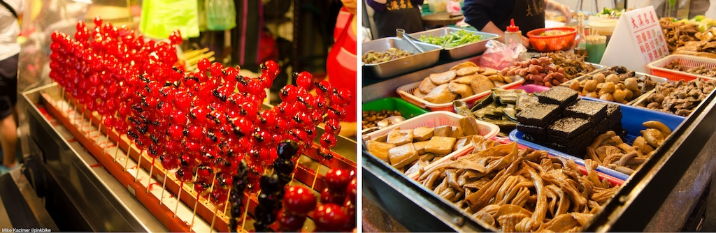The market is a sensory overload of bright colors and strange smells.