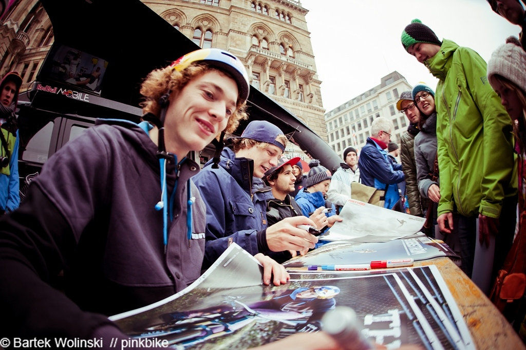 Redbull riders during the signing session