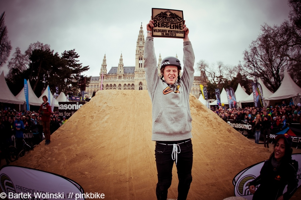 Anton amazed everyone with his style and trick skills and won the Wildcard for Redbull Bergline
