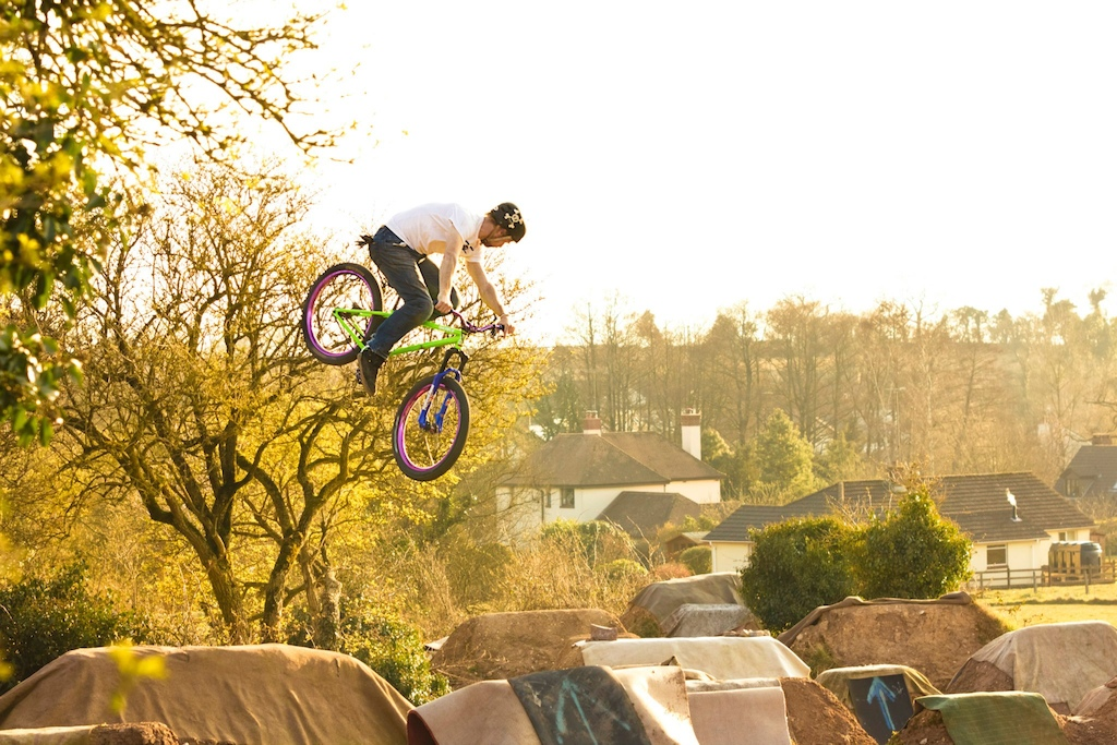 Twisting up the trick set on a sunny April afternoon. Thanks to Keegan Crook/Fergal Michaelson for the photo.