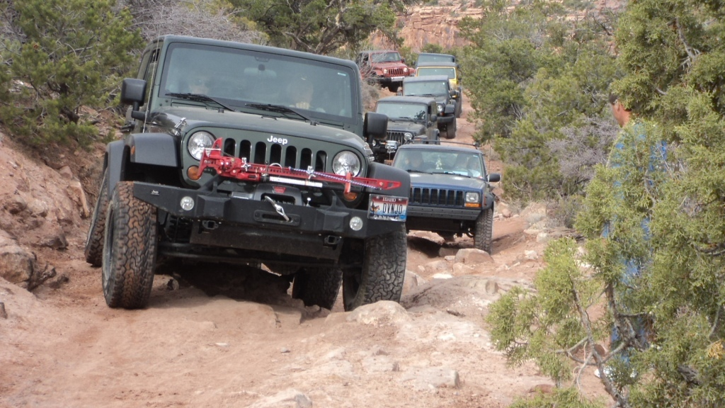 Jeep club following us up to the rim