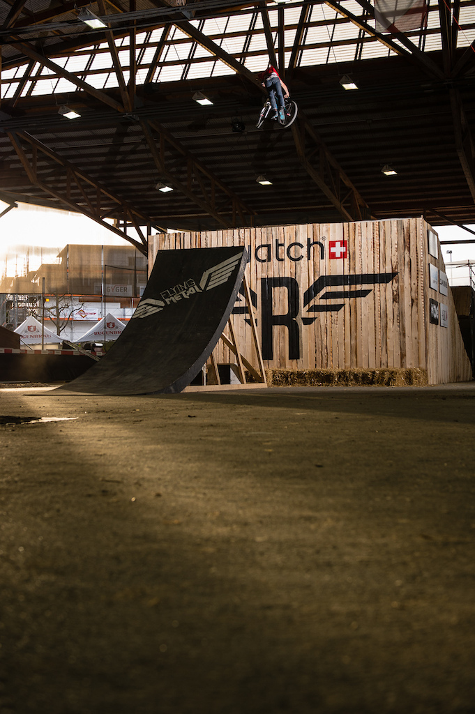 Ramon Hunziker testing the Big Air at Swatch Rocket Air  Photo by Andre Maurer