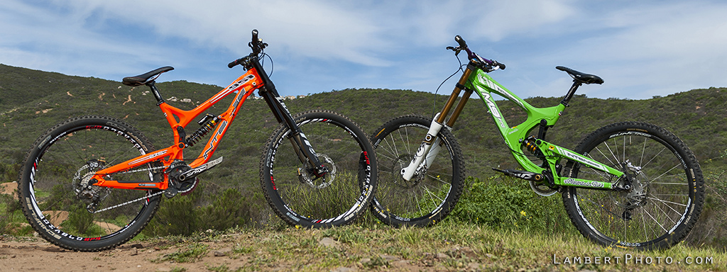 2fec7514915 Intense's 650B 951 Evo opposite the M9 - two of the world's more capable  descenders. With equal riders aboard, the M9 would have a small fight on  its hands ...