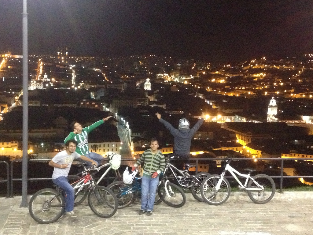 With my brother, cousin and friends before riding some stairs