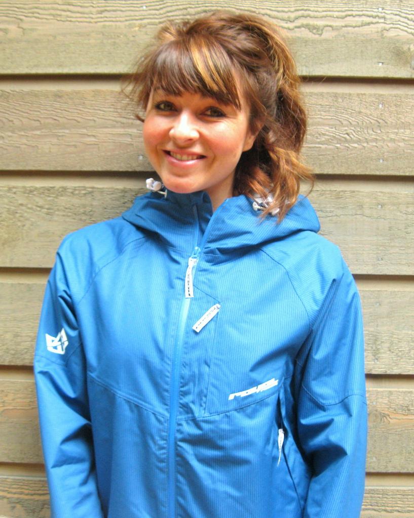 britney white at royal racing matrix jacket in bellingham