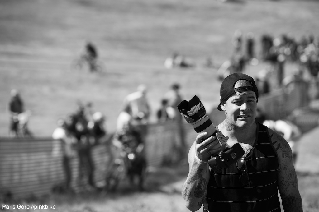 Jordie Lunn clearly knows how to work his camera...