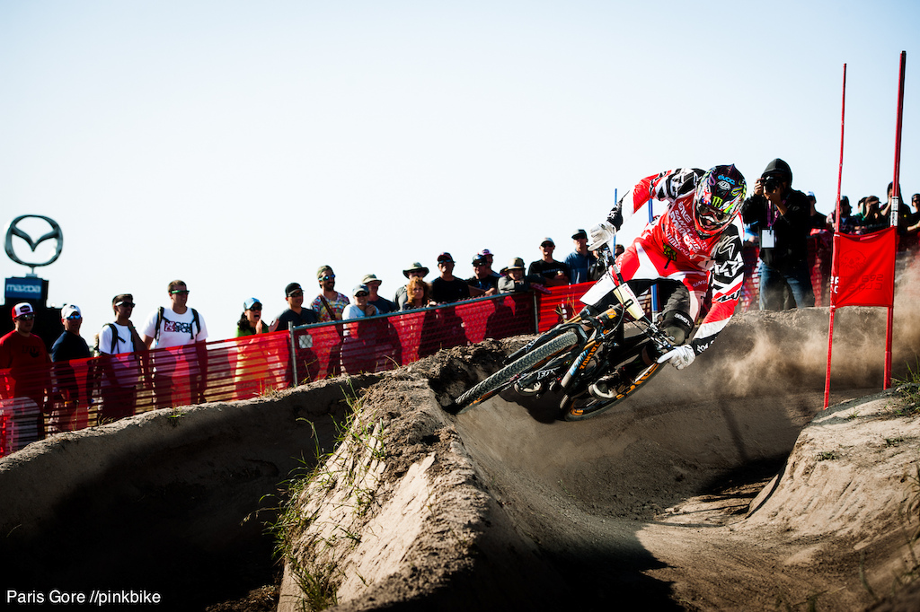 Peaty blasting through and taking an unpredicted placement.