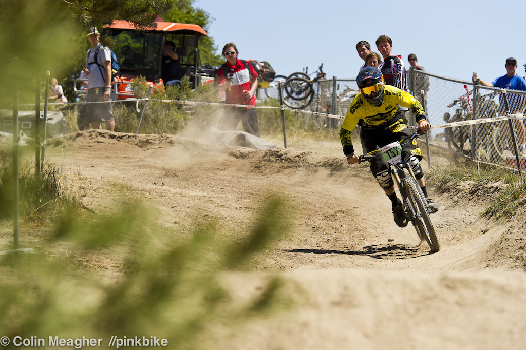 Luke Strobel pinning it on a foreign substance sand and dust.