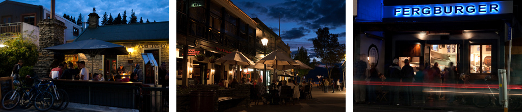 Photo Luke Sergent Queenstown by night.