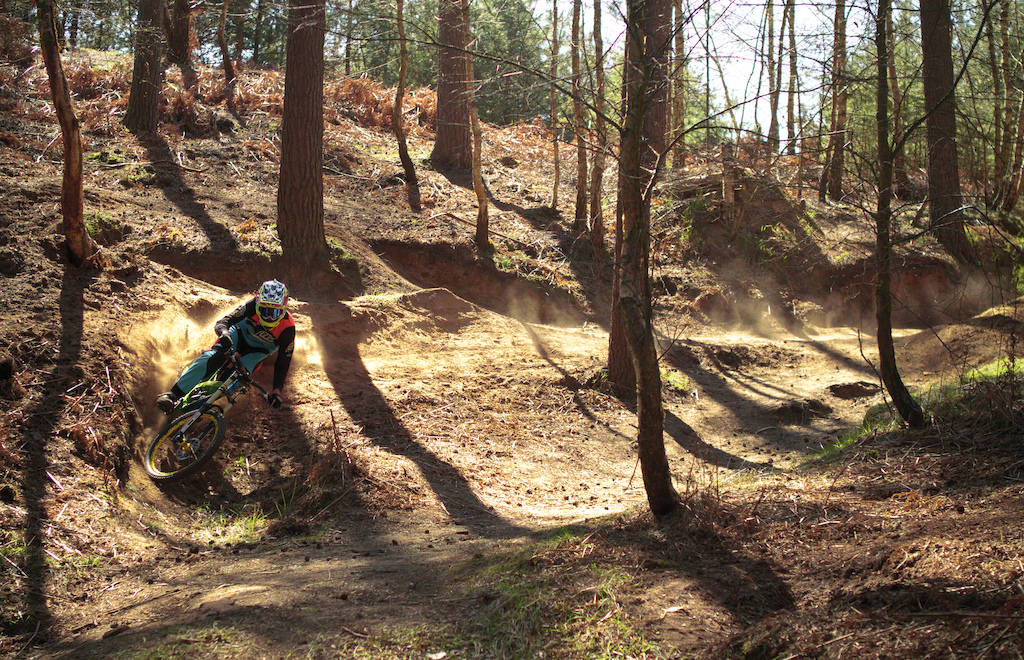 Smashing some corners on a recent filming day.