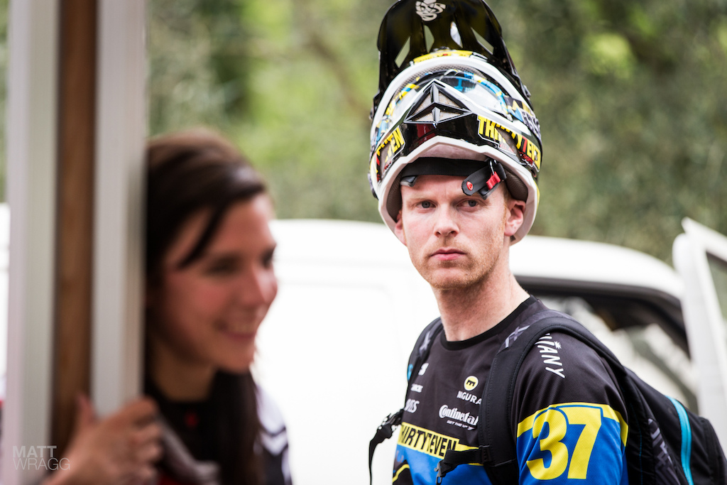 Joost Wichman is another rider who has decided to start riding more enduro this year. While he ll happily joke that he doesn t need to worry about being fast as he s a team manager now he wasn t hanging around in practice looking relaxed in the technical sections. Unfortunately late on Thursday he went down hard and had to head for the hospital to get his knee looked at.