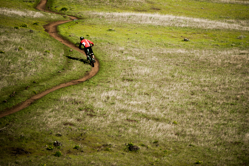 Some of the best single track we'd ever seen.