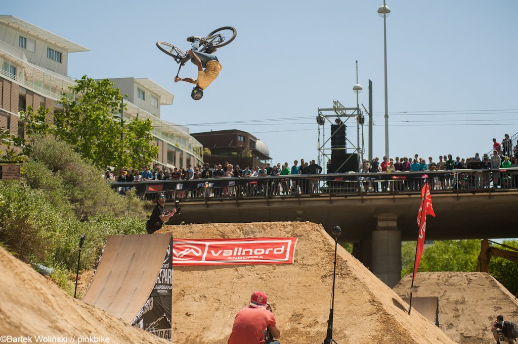 French rider Louis Reboul pulled huge flatspin during the finals
