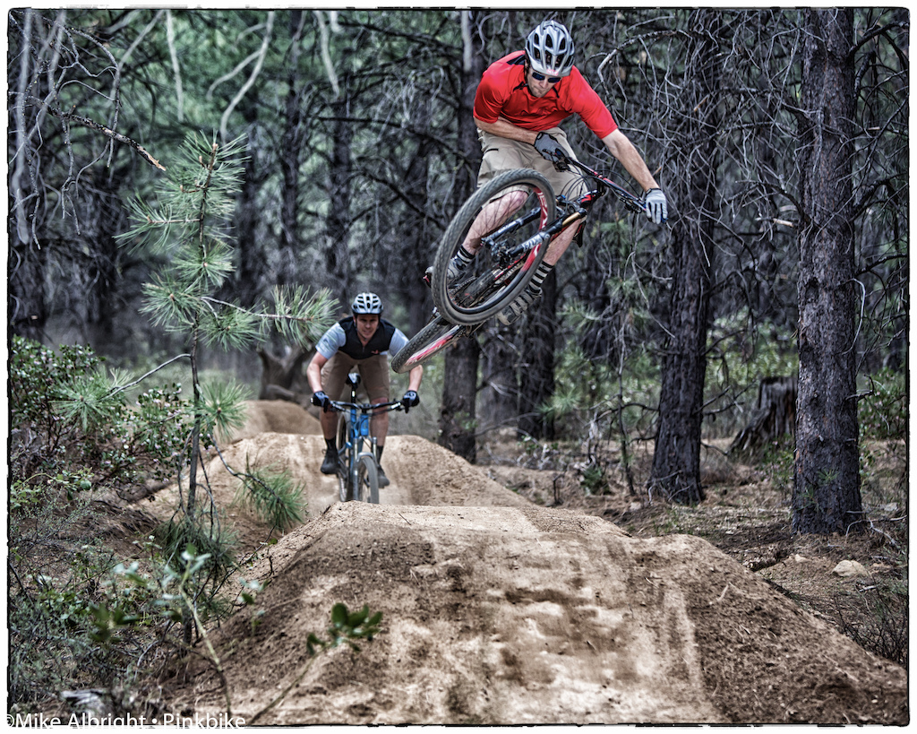 """Kirt Voreis at Friday """"Happy Hour"""".   Lower Whoops trail near Bend, Oregon"""