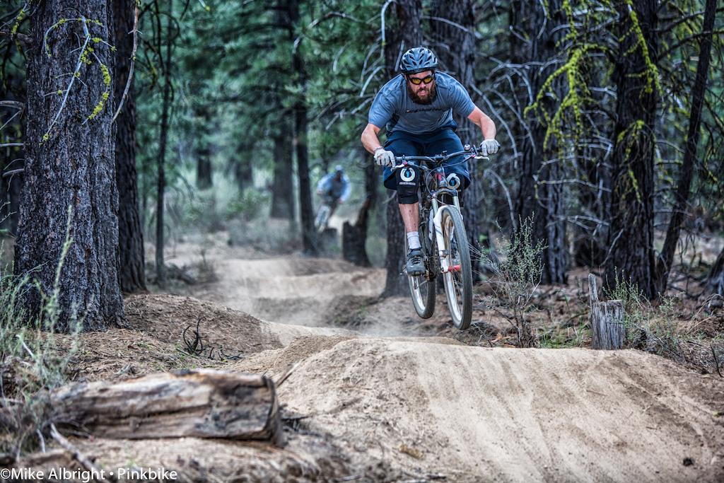 Near the end of one of the few dh-only trails near Bend.