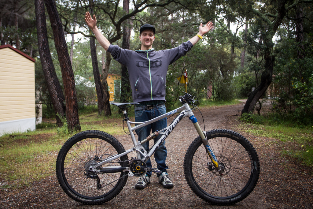 Max Schumann and his Carver 27.5 IBC internet forum-designed bike