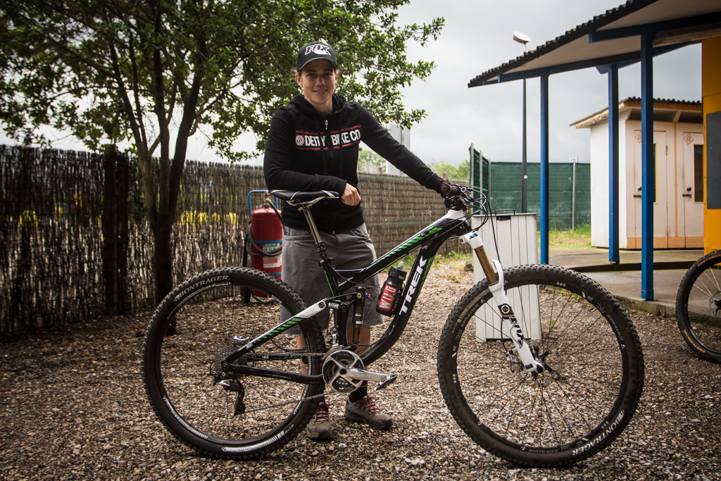 Tracy Moseley and her 29 Trek Remedy prototype