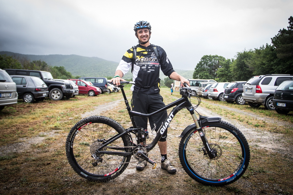 Adam Craig and his 27.5 Giant prototype
