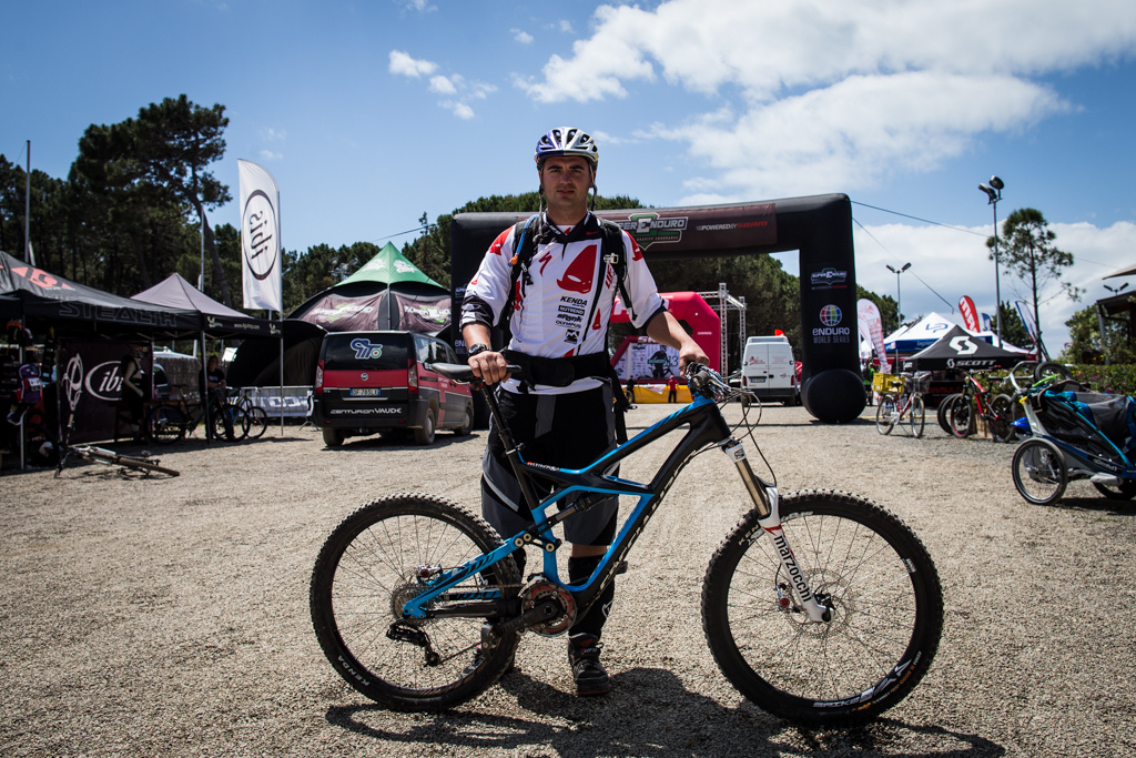 Michal Prokop and his Specialized Enduro