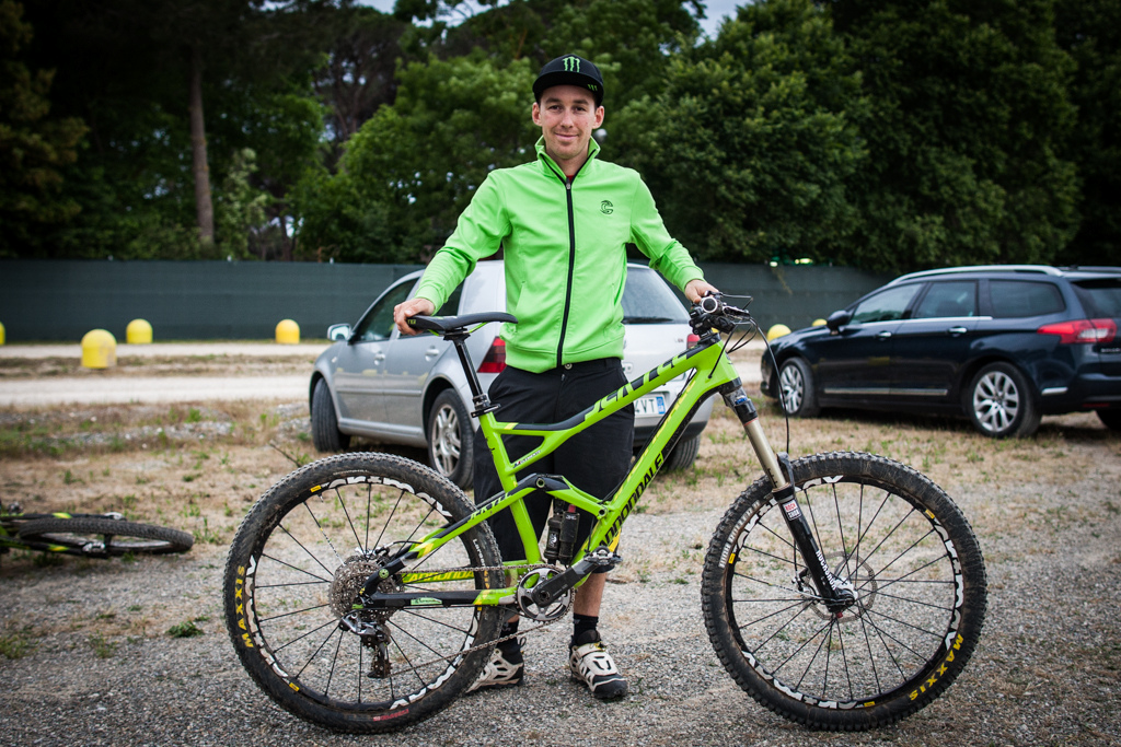 Jerome Clementz and his Cannondale Jekyll
