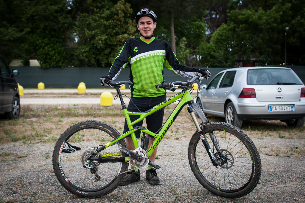 Ben Cruz and his Cannondale Jekyll