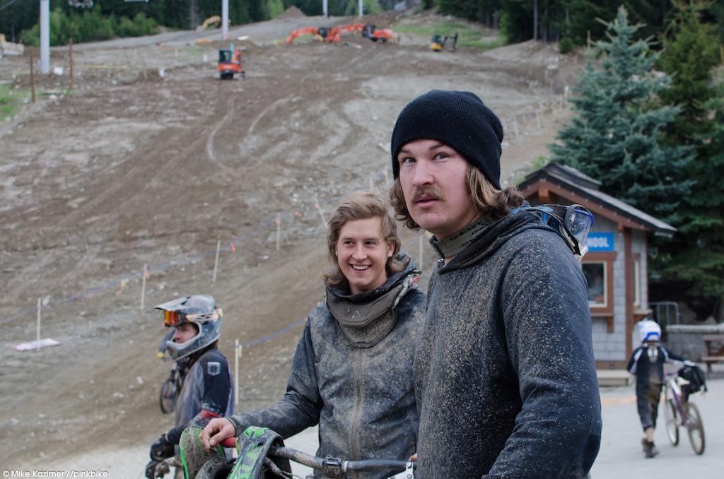 The Whistler Trail Crew s Peter Matthews was out enjoying his hard work.