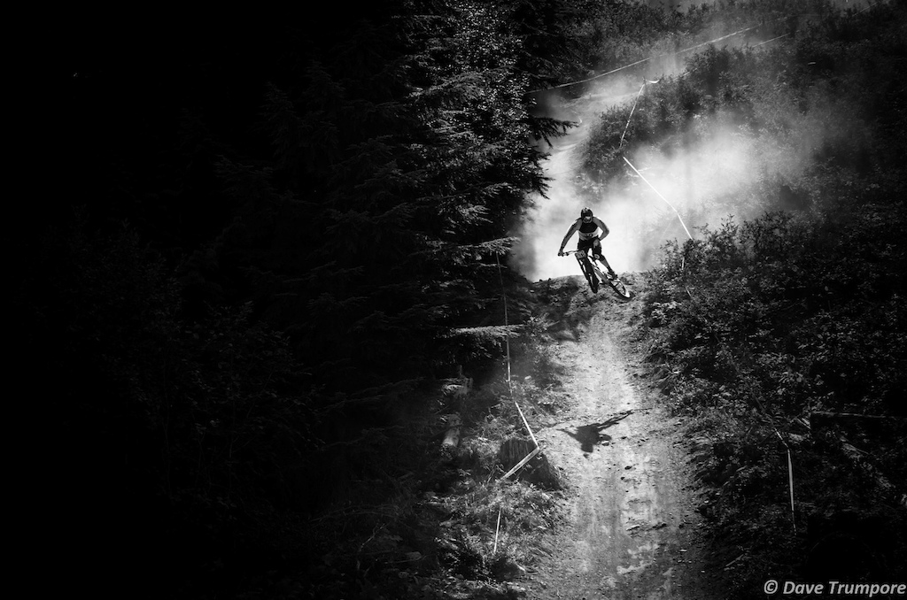 Jamie Biluk: High spped stepdown, Canadian Open DH. Crankworx Whistler 2013