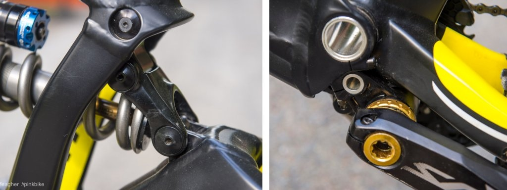 GT 2014 Fury World Cup Upper link and oversized swingarm pivot