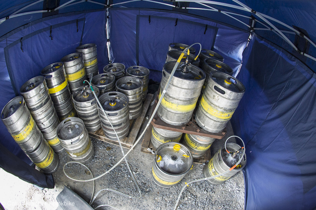 A few essential supplies for the public here to witness some history here at the Fott. That d be 27 kegs of ale. I think it s going to be a bit of a party.