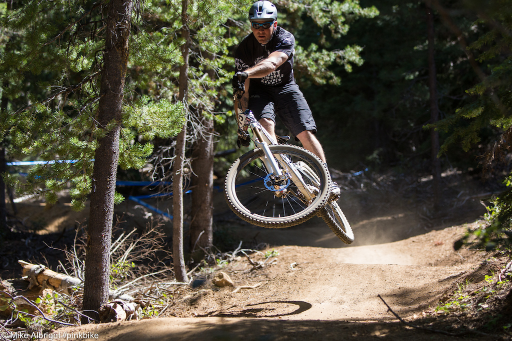 Jason Sigfrid shaking the rust off and racing mountain bikes again. Jason was one of the fastest DHers out of the Northwest around the turn of the century so I wouldn t be surprised to see him moving up the leader board at future events.