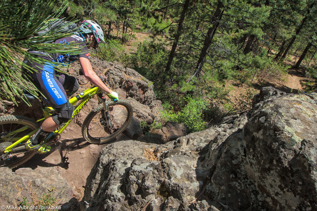 Bend s trails are known for being relatively smooth with a lot of flow but there are sections lava rocks that can trip racers up.