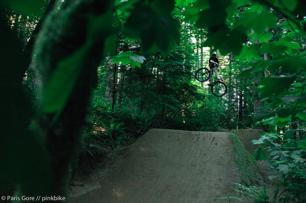 Steven Bafus showing off his BMX skills on the 26 trails.