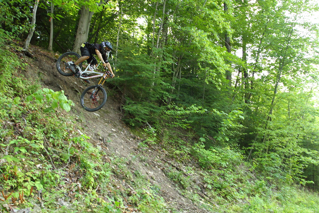 Yeah... It's really that steep...  Watched a guy send it to the bottom by accident last year.