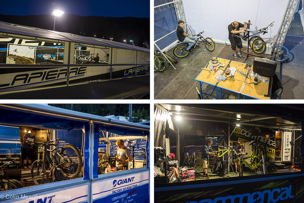 For the mechanics the long transfer to Italy from Scotland and the pit set up means a long night of bike building to come as riders will be starting practice at 9am on Thursday am.