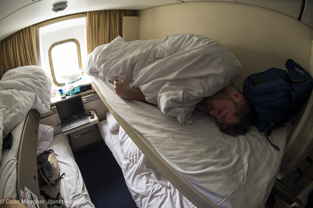 Cabins on the Ferry to Amsterdam can be a bit snug--this ain t no Love boat.