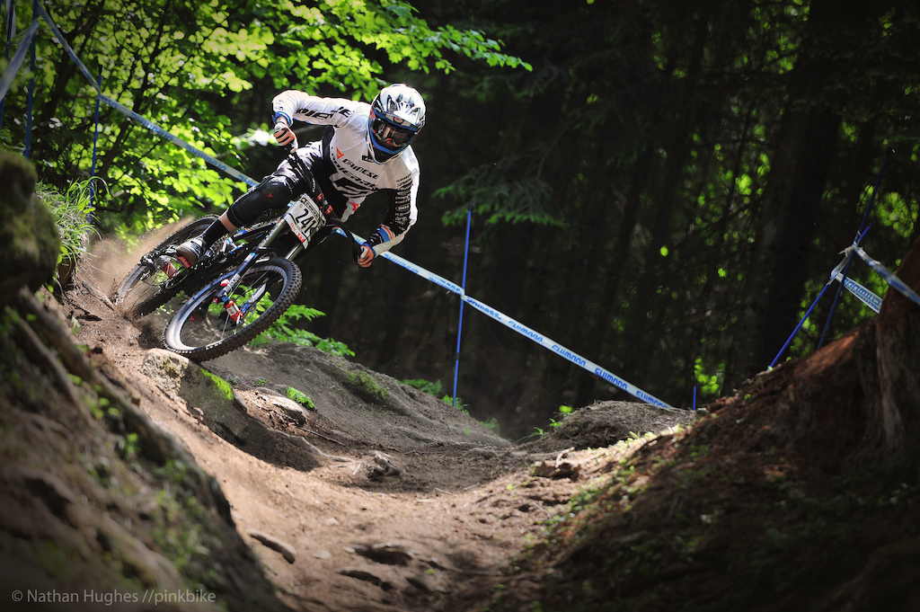 Lapierre s Loris on the charge he will be tenth last down the mountain on Sunday.