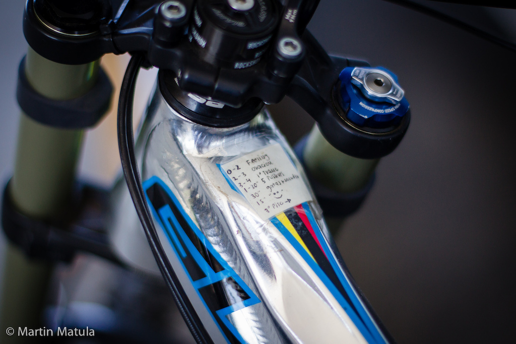 Anyone want to take a wild and educated guess what this little smiley sticker on Marcelo Gutierrez s top tube says