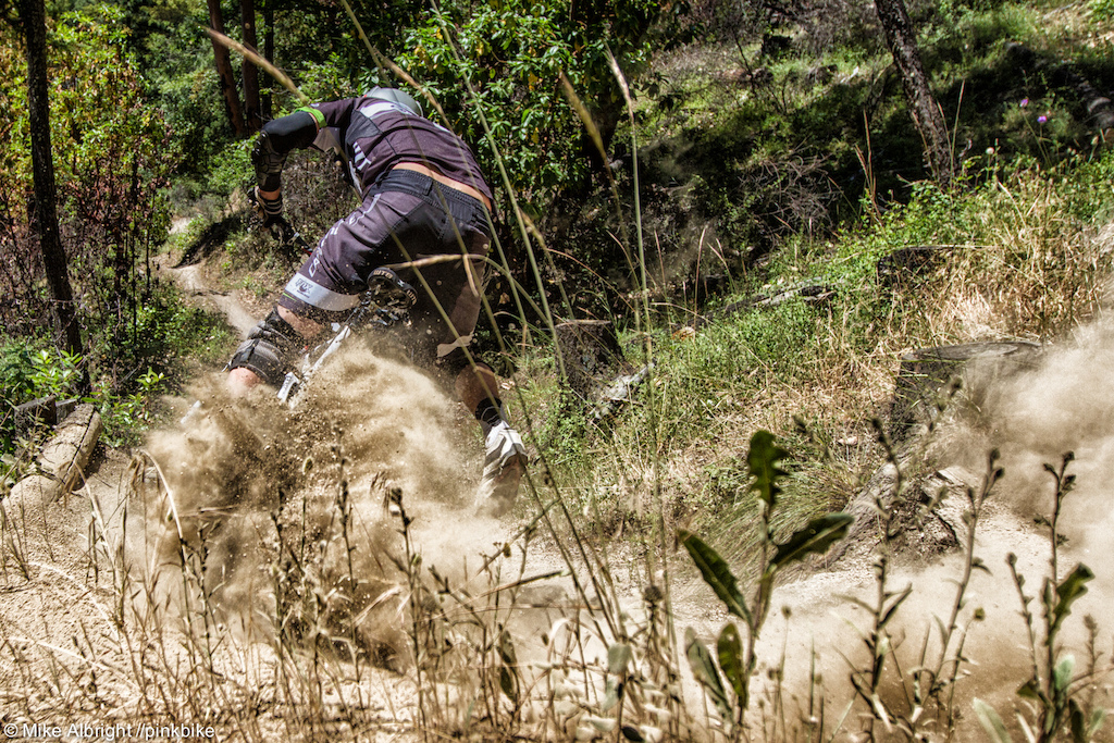 WTB s Marco Osborne blasting out of a corner on his way to an impressive 4th place.