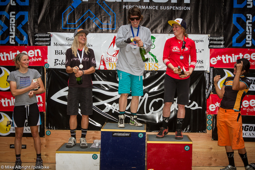 Women s Pro podium l-r Jennifer Johnson Carolynn Romaine Rosara Joseph Jill Kintner Abby Hippely
