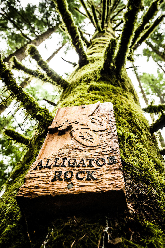 Hand made signs dot the BCBR course showcasing the effort put into the trails.